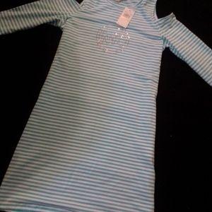 Turquoise striped Michael kors basics dress